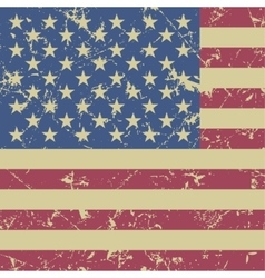Grunge styled - flag of usa vector