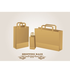 Brown shopping bags vector
