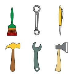 Set of tools vector