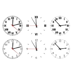 Set watch isolated on a white background vector