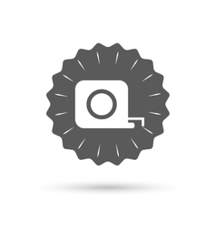 Roulette construction icon tape measure symbol vector