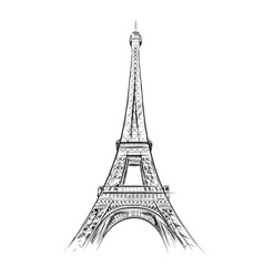 Eiffel tower on the white vector