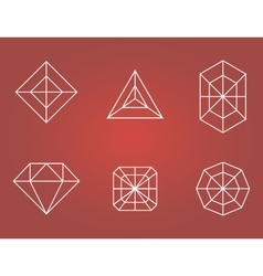 Set of diamonds icons vector