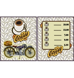 coffee shop design elementsMotorcycle vector image