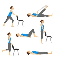 Body workout exercise fitness training set vector