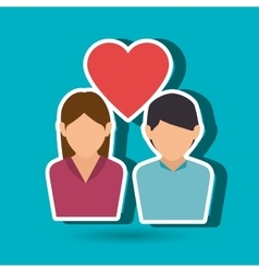 Couple love design vector