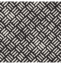 Seamless freehand geometric rough lines vector