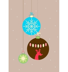 Balls for Christmas vector image