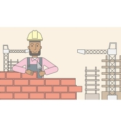 Bricklayer vector