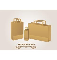 Brown shopping bags vector