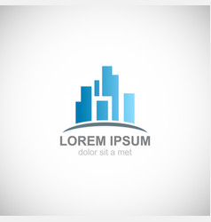 building city business logo vector image