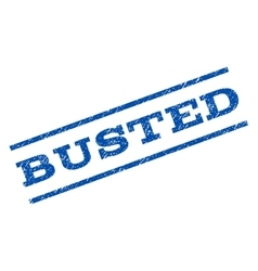 Busted watermark stamp vector