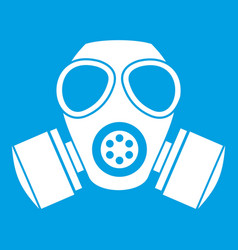 Chemical gas mask icon white vector