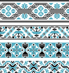 Collection of national ornaments vector image vector image