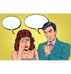 Difficult dialogue a headache vector image vector image