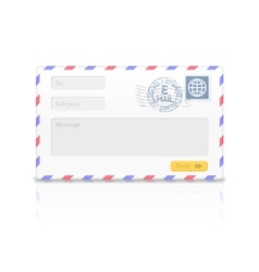Email envelope isolated on white background vector image vector image