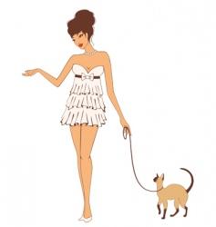 fashionable woman vector image vector image