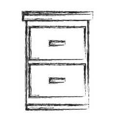 File cabinet document sketch vector