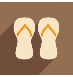 Flat with shadow icon and mobile application beach vector