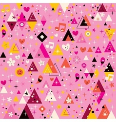 Fun triangles abstract art funky cartoon retro vector