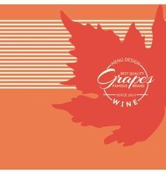Grape decorative ornament vector image vector image