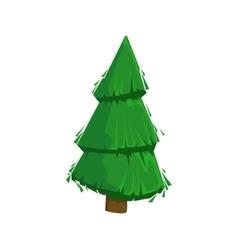 Green fir tree woods natural landscape design vector