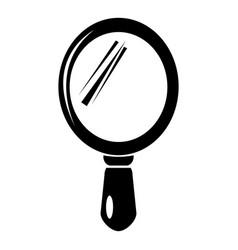 Hand mirror icon simple style vector