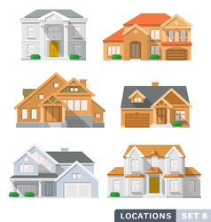 House icon set2 vector image