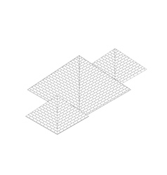 isometric egypt pyramid vector image