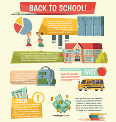 school orthogonal infographics vector image vector image