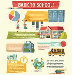School orthogonal infographics vector