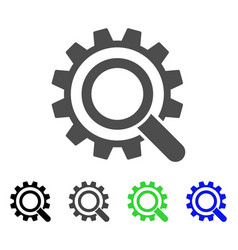 search options gear flat icon vector image vector image