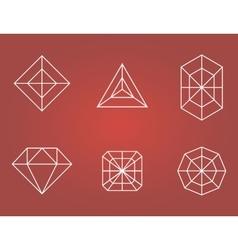 Set of diamonds icons vector image