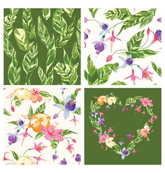 Set of Tropical Backgrounds vector image vector image