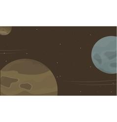 Space planet cartoon collection stock vector