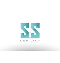 Ss s s alphabet letter green logo icon design vector