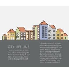 urban buildings vector image vector image
