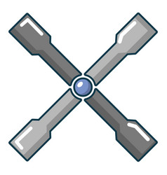 Wheel brace icon cartoon style vector
