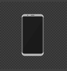white smartphone with modern design vector image