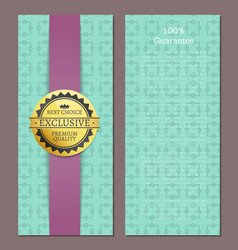 100 guarantee cover design exclusive high quality vector image