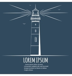 Lighthouse design postcard vector