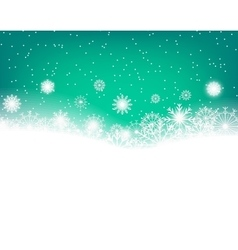 Winter background with snowflakes and copy space vector