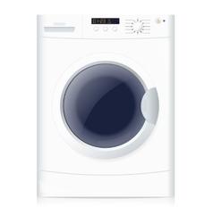 Realistic washing machine vector image