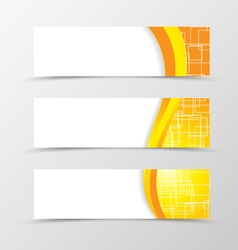 Set of header banner technologic design vector