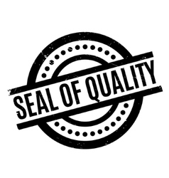 Seal of quality rubber stamp vector