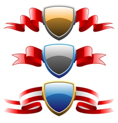 Badges and ribbons set vector