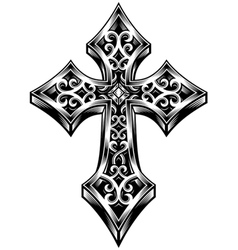 Ornate celtic cross vector