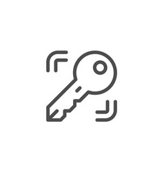 key line icon vector image