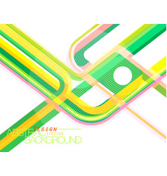 Abstract green concave scene vector