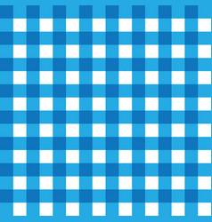 dark blue and light blue plaid fabric pattern vector image